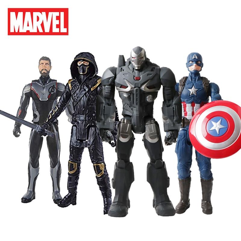 30cm Marvel Avengers Infinity War Black Panther Thanos Spiderman Hulk Iron Man Captain America Action Figure Toys Dolls