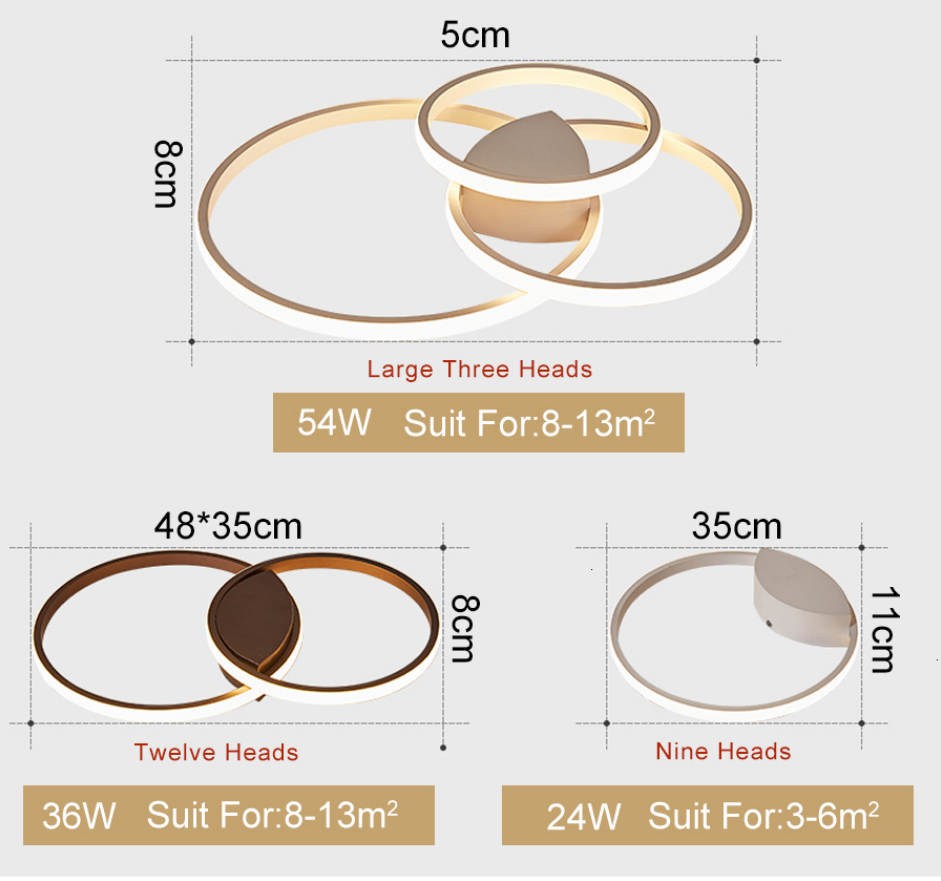 H49b50954c65c46d9b3fd8bb884666b4dN Led Ceiling lamp For Living Room Bedroom Study Room Home Deco AC85-265V Modern White/Coffee surface mounted Ceiling Lamp