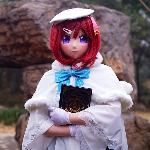(KGM 19) Crossdressing Girl BJD Doll LoveLive! Comic Mask Realistic Silica Maki Nishikino Cosplay Kigurumi Crossdresser Mask