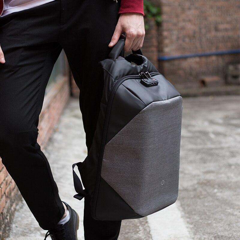Korin el diseño ClickPack Pro Anti corte Anti ladrón Mochila De laptop para hombres mochila 15,6 pulgadas bolsas para la escuela de los niños - 4