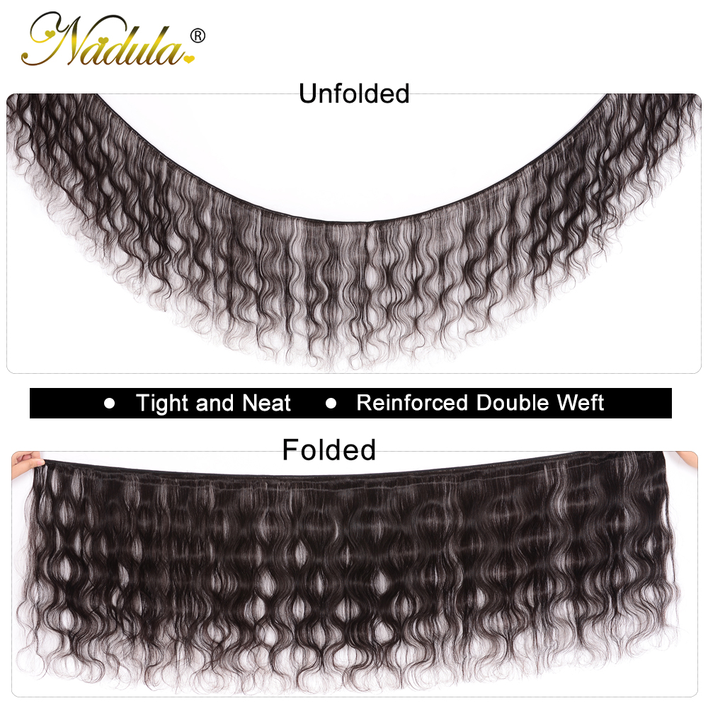 Nadula Body Wave Bundles With 4*4 Free Part/Middle Part/Three Part Lace Closure Indian Hair  Hair Bundles With Closure 2