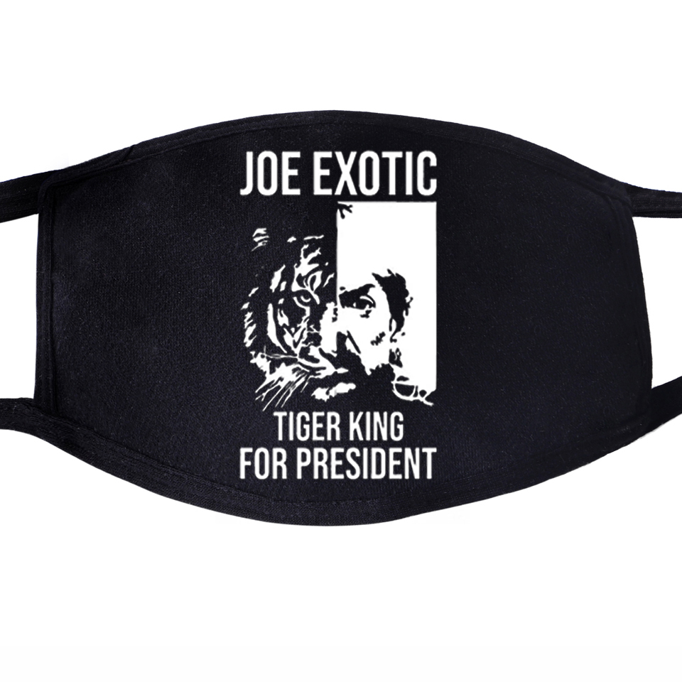 Free Joe Exotic President Dustproof Mouth Face Mask Unisex Black Cycling Anti-Dust Facial  Cover The Tiger King Masks