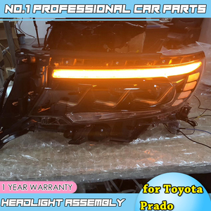 Image 2 - 도요타 프라도에 대한 자동차 액세서리 전체 헤드 라이트 2018 새로운 프라도 전체 LED 헤드 라이트 LED 헤드 램프 DRL 낮은 높은 빔 모든 Bi LED