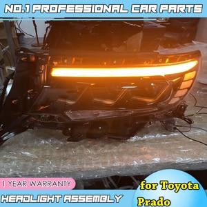 Image 2 - Araba aksesuarları Toyota Prado tam farlar 2018 yeni Prado için tam LED far LED far lambası DRL düşük yüksek işın tüm bi led