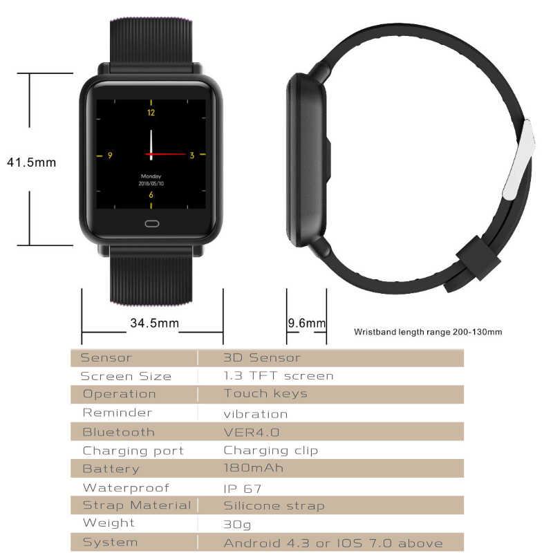 Q9 montre intelligente homme femmes sport Bracelet étanche Smartwatch moniteur de fréquence cardiaque pression artérielle montre numérique pour Ios android