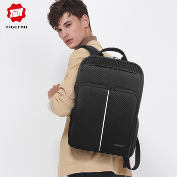 Mochila nueva Tigernu para hombre con rayas reflectantes USB Mochila de carga Fit 15,6 pulgadas portátil/ordenador Mochila para hombre y mujer bolsa