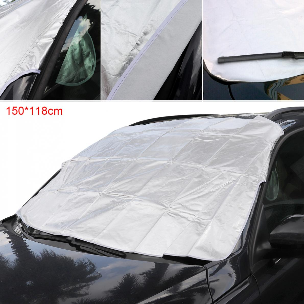 M L Universal Thick Front Windshield Car Covers Aluminum Foil Cotton Anti Snow Rain UV Sun Shade Dust Protection Car Clothing