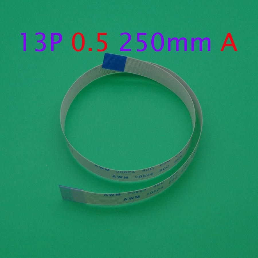 1pcs FFC/FPC Flat Flex Cable 13Pin Same Side 0.5mm Pitch AWM VW-1 20624 20798 80C 60V Length 25cm
