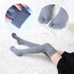 1 пара, Спортивные Чулки Tabi, женские нейлоновые компрессионные облегающие длинные носки выше колена, Чулки с 2 носками для женщин, американск...
