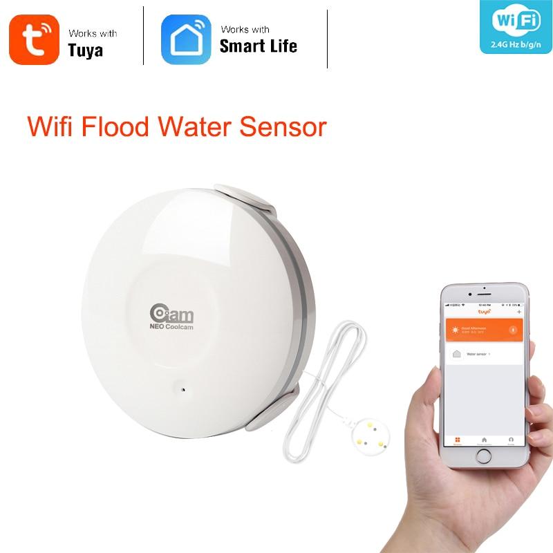 Neo coolcam wi fi inteligente sensor de água detector de vazamento wi-fi alarme sensor e notificação aplicativo alertas apoio ifttt