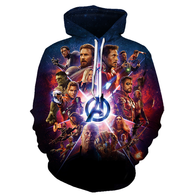 2019 New Marvel Avengers 4 Infinity War Iron Man Tony Stark Hoodie Sweatshirt For Men 3D Print Hoodies Dropshipping