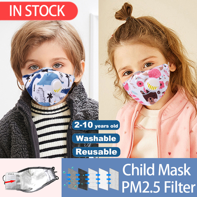Anti-Dust Face Mouth Mask Reusable Breathable Cotton Protective Children Kid Cartoon Cute PM2.5 Anti-Dust Mouth Face Mask