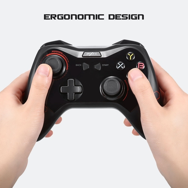 PXN - 9606 Wireless Bluetooth Gamepad Game Controller Joystick With Phone Bracket/Receiver For Android Smartphones Tablet Tv Box 4