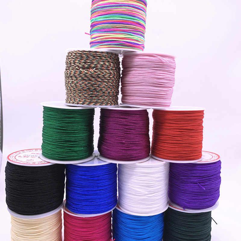 NYLON thread wire 1mm light teal nylon line,braided cord,Macrame Beading String 50 Yards,Chinese Knotting Braided Nylon Cord