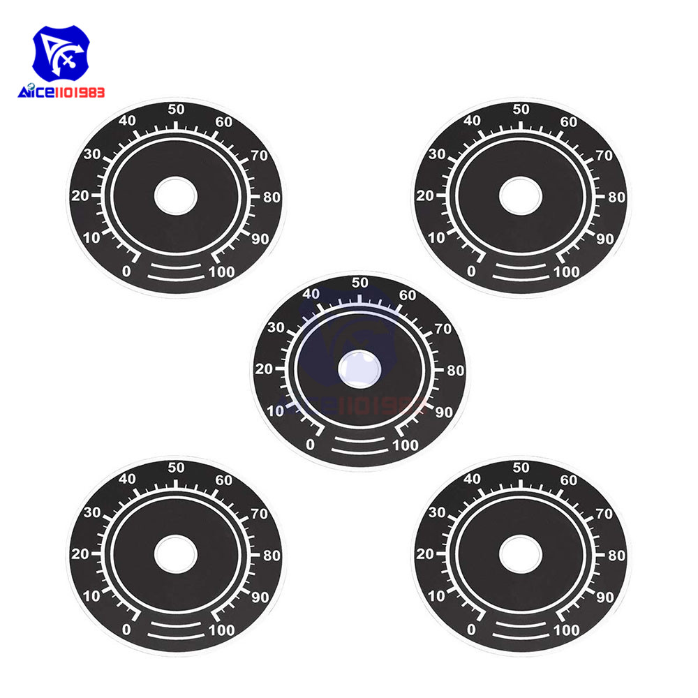 5PCS/Lot Rheostat Variable Transformer Rotary Potentiometer Control 0-100 Dial Face Plate Scale Sheet