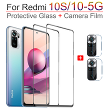 Full Cover Có Kính Cường Lực Cho Xiaomi Redmi Note 10 S Giáp Kính Note10 Pro Camera Phim Kính Trong Suốt Redmi Lưu Ý 10 S Pro 5G