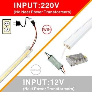 Image 4 - Kabine altında LED mutfak ışığı açık satış süt beyaz kabuk 30cm 50cm soğuk beyaz sıcak beyaz 220V SMD2385 72leds mutfak dekoru