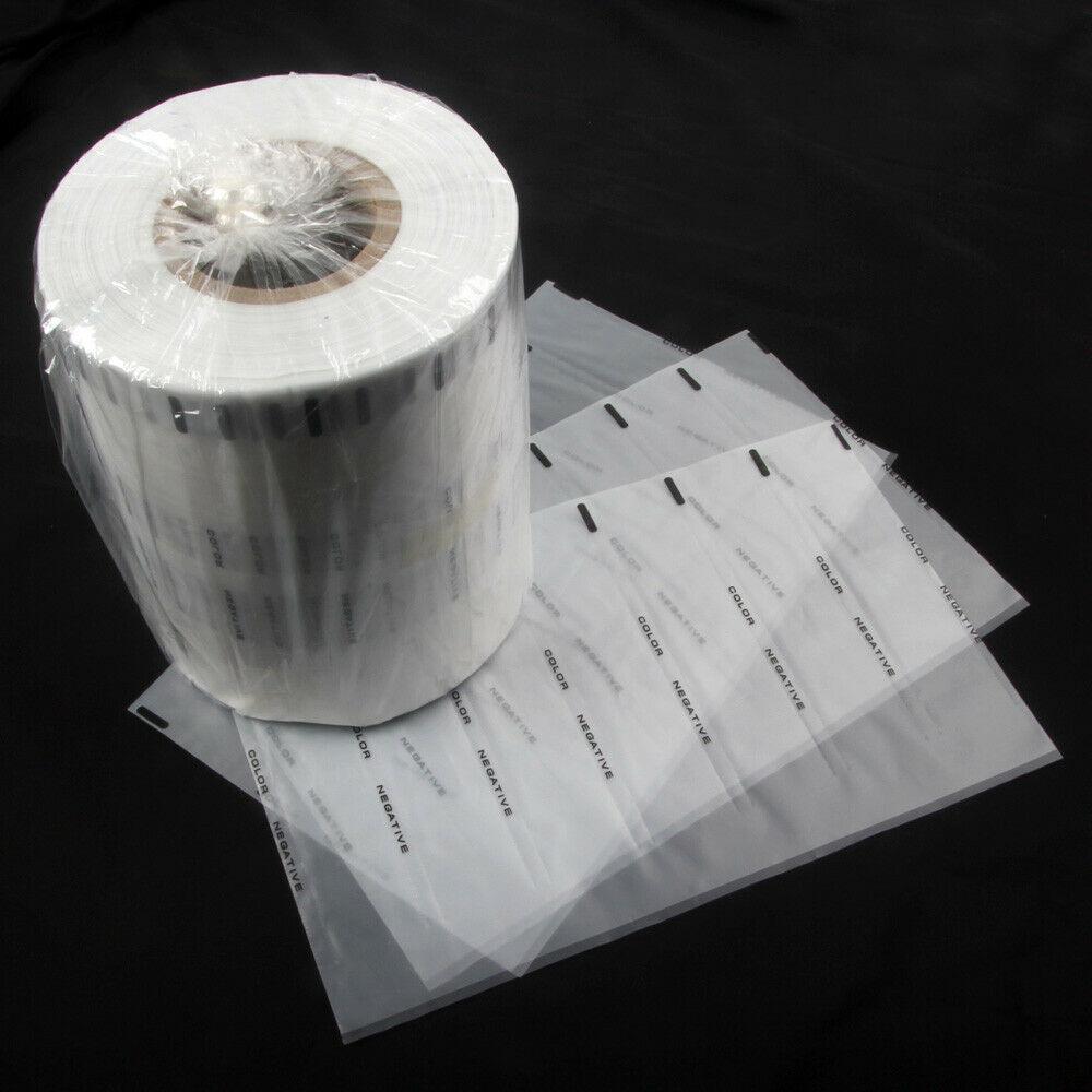 100 шт./лот, не содержащая кислоты Защитная пленка для хранения, 35 мм 135 B & W цвет, отрицательная горка