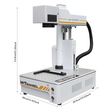 M Triangel Fiber Laser 20W Auto Focus Engraving Machine for Phone X XS XSMAX 8 8P 11 Rear Glass Remove Laser Separating Machine