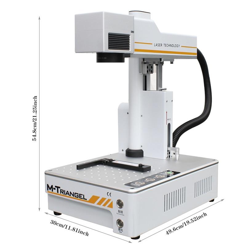 M-Triangel Fiber Laser 20W Auto Focus Engraving Machine For IPhone X XS XSMAX 8 8P 11 Rear Glass Remove Laser Separating Machine