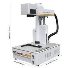 M triangel繊維レーザー20ワットオートフォーカス彫刻機電話 × 1用のxs xsmax 8 8 1080p 11リアガラス削除レーザー分離機