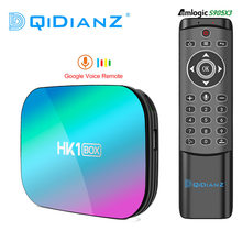 Hk1 caixa 8k amlogic s905x3 4gb ram 64gb hk1box android 9.0 conjunto superior caixa dupla wifi 4k smart media player pk x96air h96max a95xf3