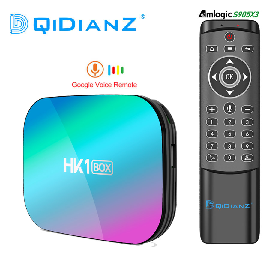 Hk1 caixa 8k amlogic s905x3 4gb ram 64gb, hk1box android 9.0 set top box duplo wifi 4k caixa de tv smart pk x96air h96max a95xf3 vbox