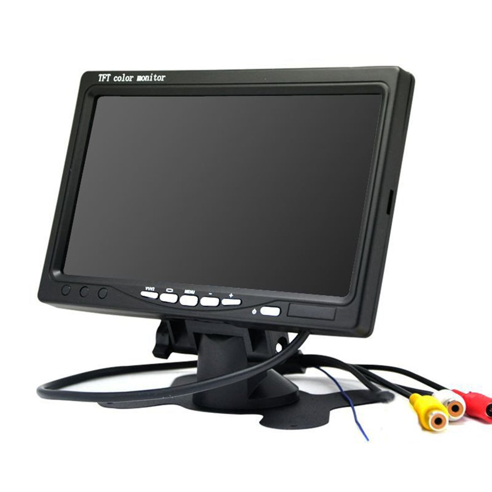 Screen-Monitor Head-Up-Display Backup-Camera Hud Lcd-Color Car-Cctv-Reverse Rear-View title=