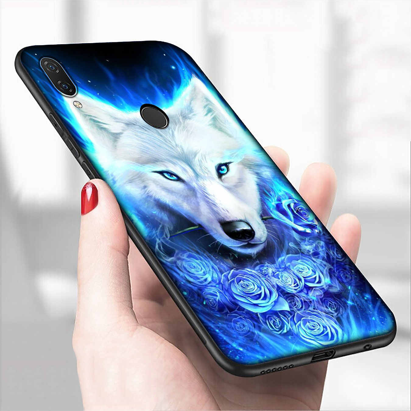 Iyicao Moon Wolf Abstract Tiger Lembut Silicone Ponsel Case untuk Xiaomi Redmi Note 8 8T 8A 7 7A 6 6A 5 5A Pergi S2 K30 K20 Pro Cover