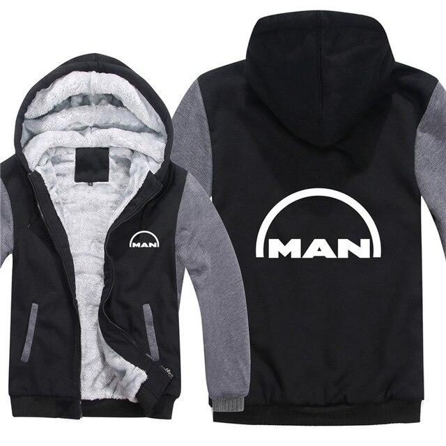 For MAN Truck Hoodies Men Fashion Coat Pullover Wool Liner Jacket MAN Truck Sweatshirts Hoody