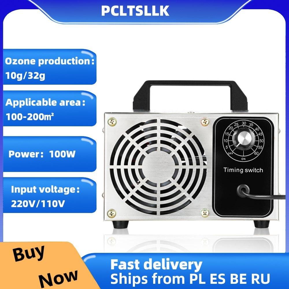 PCLTSLLK Portabl озона озонатор 220V 32g 10g Воздухоочистители домашний озонатор Портативный Озон озонатор O3 генератор с переключатель таймера