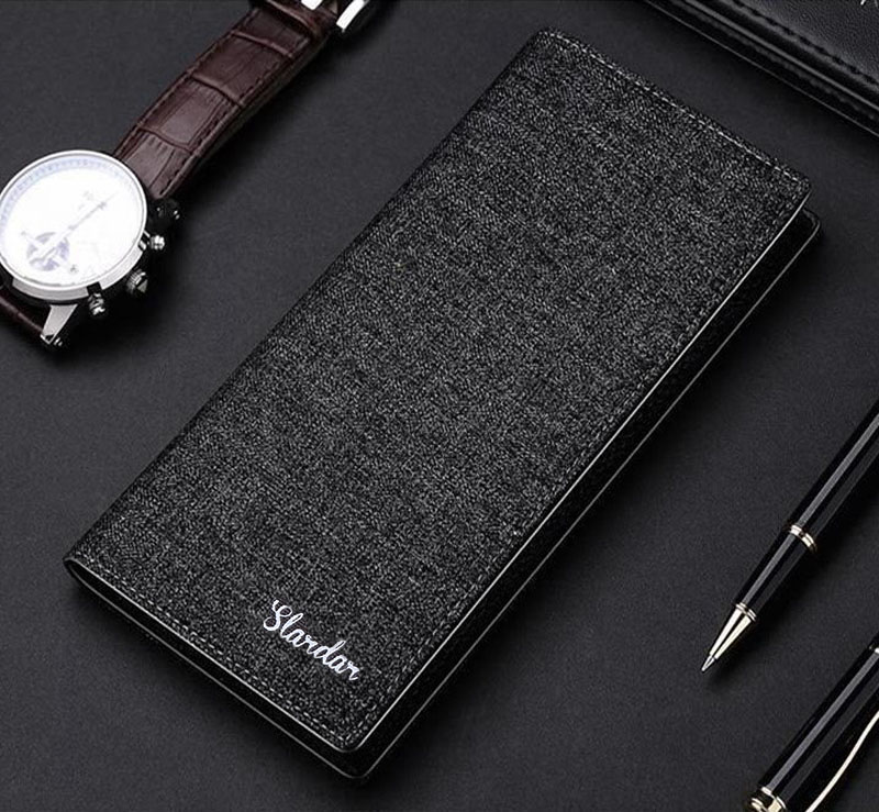 Man's Wallet Canwas Thin Purse Long For Man Portefeuille Para Hombre 2020 New Short Pocket Mini Vertical Wallet Portafoglio Uomo