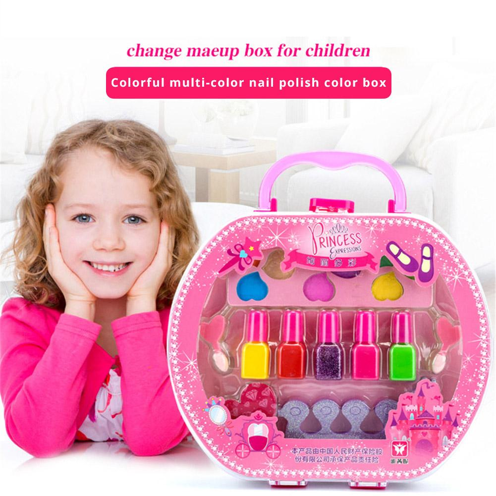 Children's Cosmetics Toys Handbags Makeup Storage Princess Stage Performance Role Playing Little Girl Nail Polish Makeup Toys