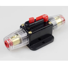 цена на 50A 12V 24V Car Audio 100 Amp Circuit Breaker Manual Reset Switch Agu Fuse Holder