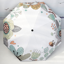 Folding Umbrella Sunscreen Anti-UV Waterproof Women Umbrellas Parasol Creative Fashion Teenage Girl Garden