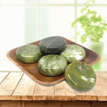 6x6cm Spa hot Stone Beauty Stones Massage Green stone Natural Stone Hot Relieve Stress RELAX jade massage set toe massage недорого