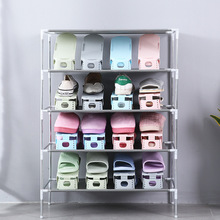 все цены на 5pcs-10pcs Modern Living Shoe Storage Home adjustable creative double layer plastic Shoe Holder Shoe Rack Shoes Organizers онлайн