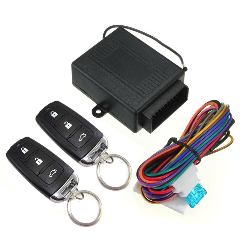 Универсальный автомобильный пульт дистанционного управления 12 В, Система бесключевого доступа, автомобильный комплект дистанционного Центрального управления, блокировка дверного замка, Система бесключевого доступа|Охранная сигнализация|   | АлиЭкспресс
