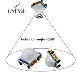 Módulo Detector de movimiento SR501 Módulo de Sensor de movimiento HC-SR501 ajuste IR piroeléctrico infrarrojo PIR Módulo de Sensor AM312 para arduino Diy Kit
