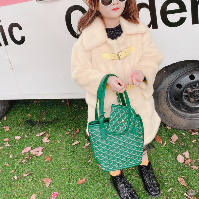 New Style Popular Versatile Children Simple Shoulder Bag Girls Lettered Japanese-style Oblique Bag Light Hand Leisure Bag