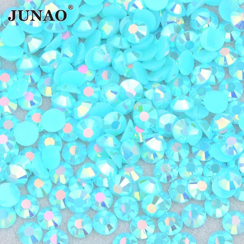 JUNAO 4 5 6 мм желе розовый Ab плоская поверхность горный хрусталь Glittler смола Стразы камни ногтей наклейки украшения клей на кристалл