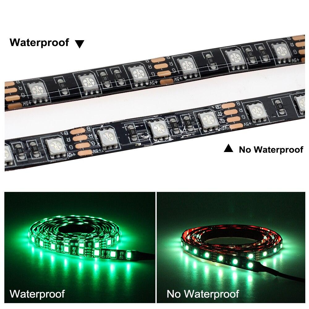 USB LED Strip 5050 RGB Changeable 5V Waterproof No Waterproof 0 5m 1m 2m with USB USB LED Strip 5050 RGB Changeable 5V Waterproof / No Waterproof 0.5m 1m 2m with USB Controller Set DIY TV Decoration LED Light.