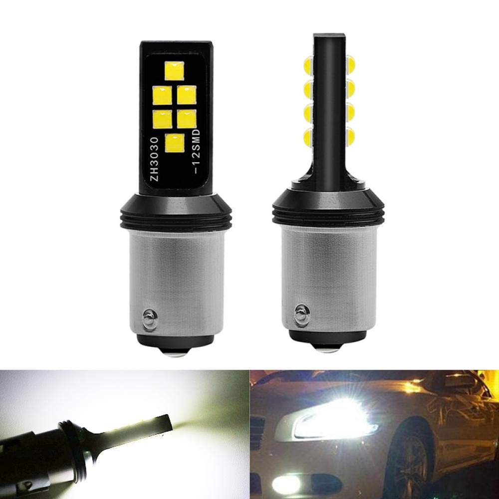Nouveau 12V CANBus 1156 BA15 7506 P21W R10W LED clignotant de voiture feu stop arriere lampe automatique ampoule diurne