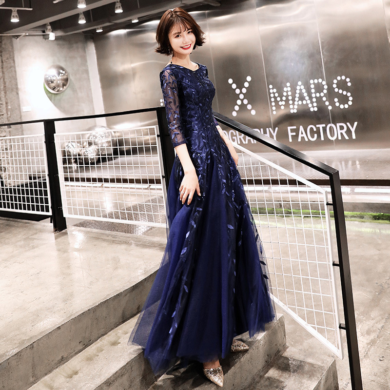Over By National People's Congress Party Evening Dress 2020 New Winter Chorus Costumes Student Performance Long Dress