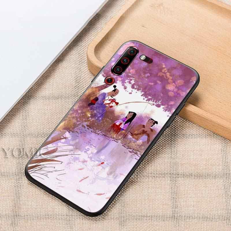 Mushu ムーランレノボ Z6 プロ 5 グラムユースライトブラックシリコーン Tasche 電話カバー Z6Lite Z6Youth Z6Pro5G ソフト casos
