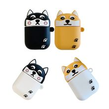 Cute Cartoon Dog Animal Pattern Protective Case Silicone Cover for Airpods 1/2 for smart watch стоимость