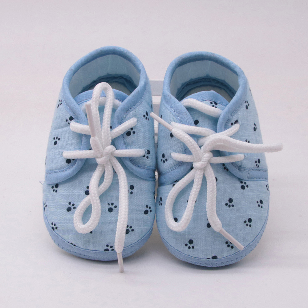 ARLONEET Baby Girl Newborn Shoes Kids Baby Girl Foot Prints Lace Up Slip Toddler Shoes Sole Toddler Infant Prewalke Shoes