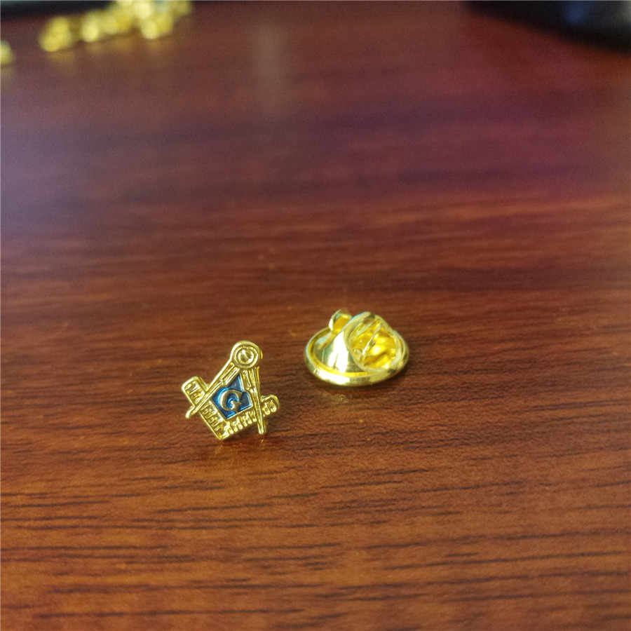 Pin masónico clásico carta de aleación A G para broche masónico masonería hermandad regalos joyería