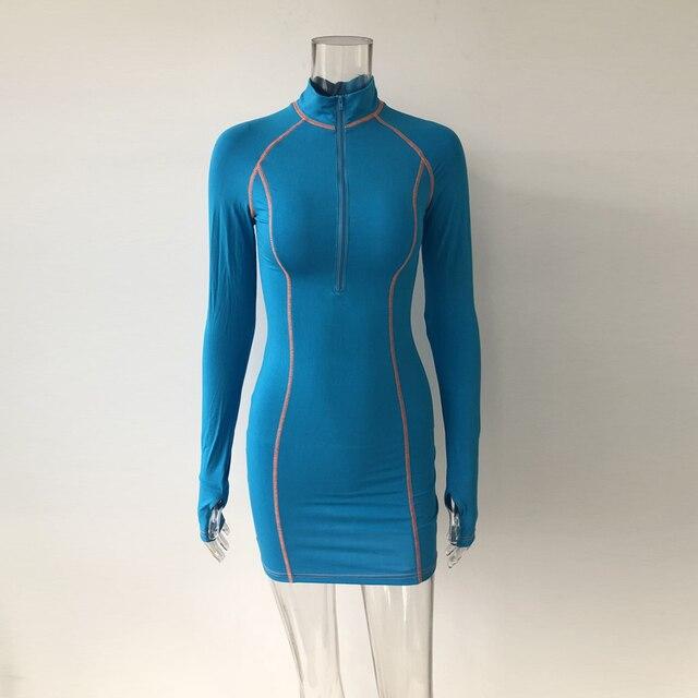 Club Dresses Sleeve Snug Zippers Mini Holiday Dress 5