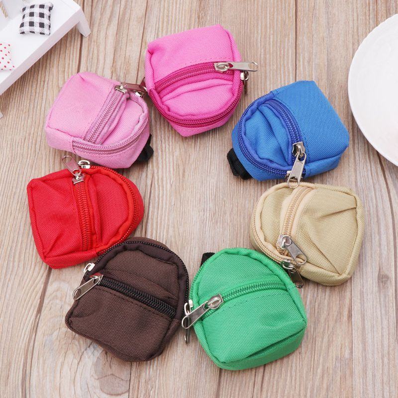 Doll Backpack Bag Accessories Mini Barbie Toys BJD Cute Children Gifts 7 Colors Y4QA